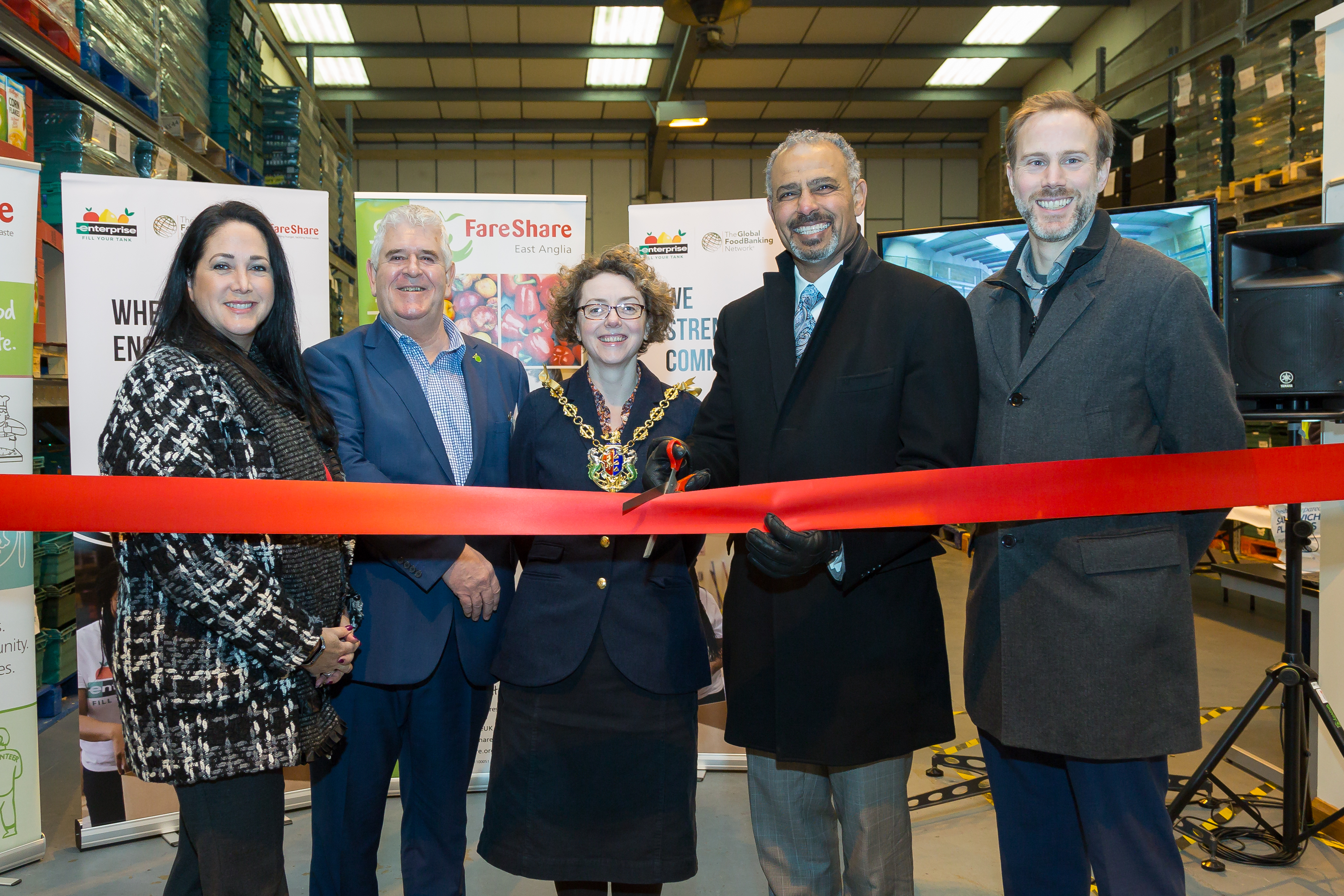 FareShare East Anglia Opening - Enterprise Rent-A-Car