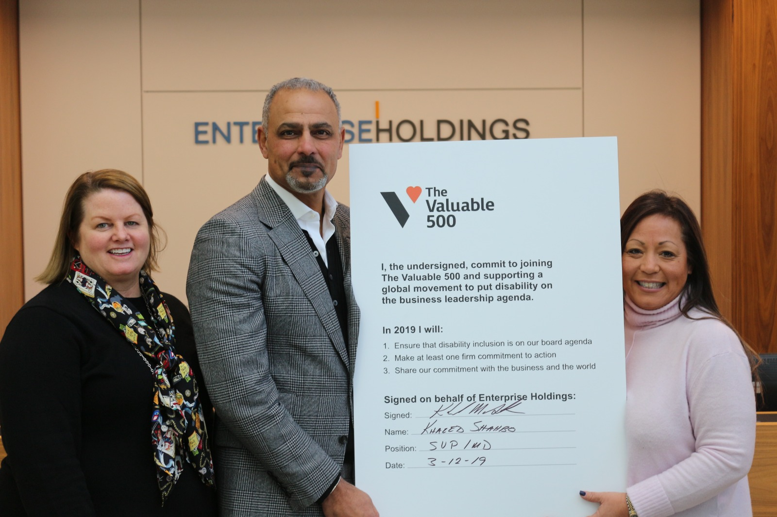 Enterprise Signs Global Disability Inclusion Pledge Valuable 500