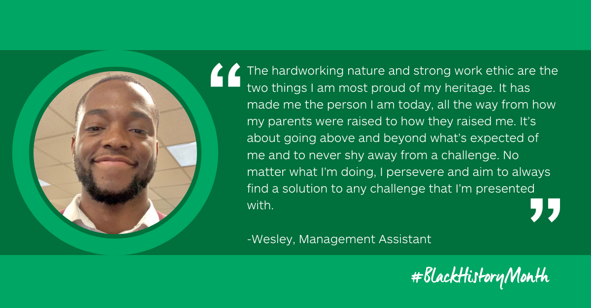 Wesley's story: my black heritage gave me my strong work ethic
