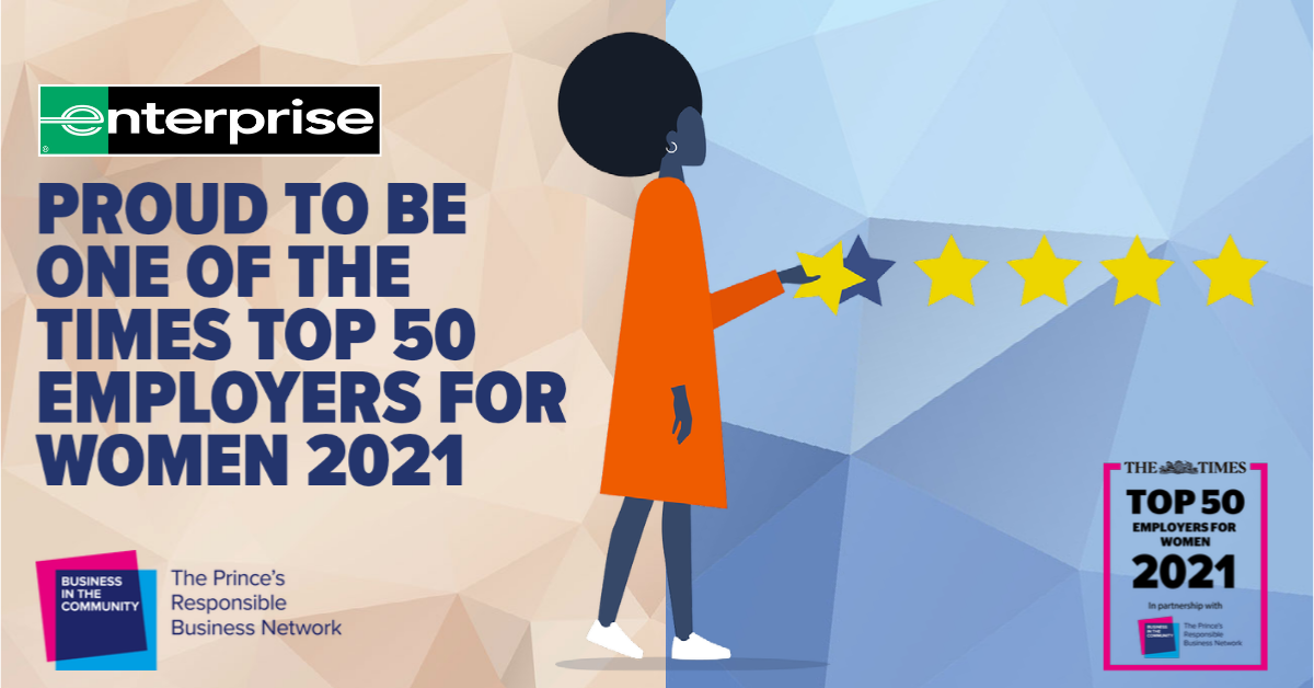 Enterprise is again named Times Top 50 Employer for Women